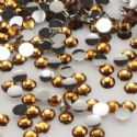 Jewel Embellishments, Resin, Light brown, Faceted Discs, 3mm x 3mm x 1mm, 300  pieces, [ZSS035]